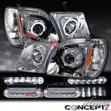lexus lx470 dual led projector headlights led daytime