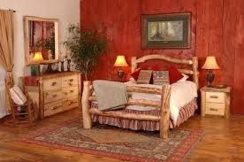 cabin themed bedroom log cabin themed bedroom adult cabin log beds are a focal point of