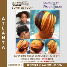 pictures of razor chic hairstyles razor chic of atlanta summer tour atlanta ga october 9 2017