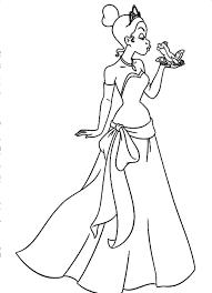 princess tiana coloring pages getcoloringpages com