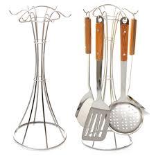porte ustensiles de cuisine en acier inoxydable étagère de la cuisine rack spatule cuillère