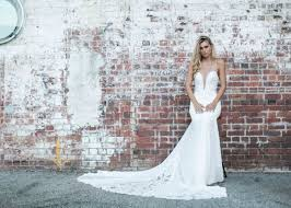clean wedding dress made with unique bridal collection