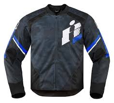 motorcycle jackets icon overlord primary perforated textile motorcycle jacket blue