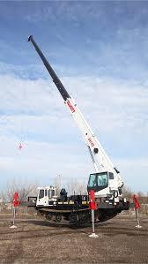 elliott equipment co elliott 34142 boom truck mounted on a track