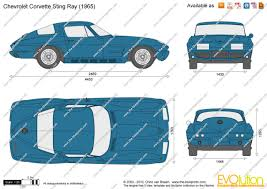 vintage corvette drawing the blueprints com vector drawing chevrolet corvette sting ray