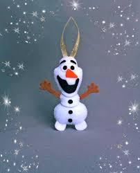snowman olaf frozen ornaments baby shower favor