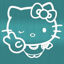 compare prices on truck window online shopping buy low price hello kitty peace sign decal car truck vinyl window sticker wall decals 3 size china
