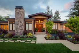 style house contemporary landscaping western style house exterior designs