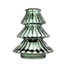 glass tree tea light holder green from national trust