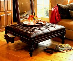 Leather Ottoman Coffee Table Rectangle Coffee Tables Black Ottoman Tray Table Antique Antique