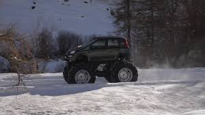 monster jeep panda monster truck was built by fiat on a jeep floor to star in a