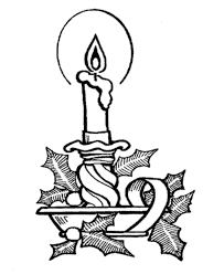 christmas candles coloring pages traditional christmas candle