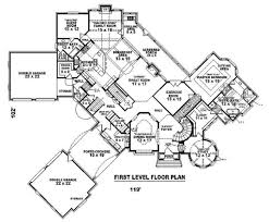 Double Master Bedroom Floor Plans by European Style House Plan 4 Beds 4 00 Baths 8205 Sq Ft Plan 81