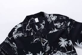 Halloween Hawaiian Shirt by Hawaii Hangover Hawaiian Shirt Aloha Shirt In Black Map