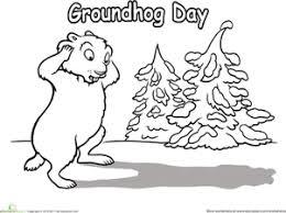 Groundhog Day Worksheet Education Com Groundhog Color Page