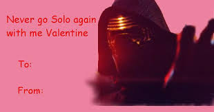 wars valentines day wars the awakens s day cards