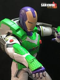 buzz lightyear iron man custom mashup action figure