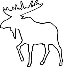 drawn moose outline pencil and in color drawn moose outline