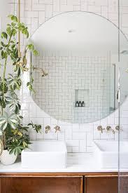 bathroom cabinets mirror wall in bathroom bathroom decor plants