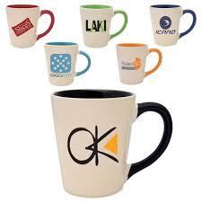 custom printed ceramic mugs 12 oz coffee mug light tan exterior