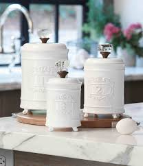dillards kitchen canisters mud pie 3 farmhouse circa vintage doorknob canister set