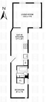 railroad style apartment floor plan on the market house of sienna mack