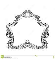 luxury baroque rococo mirror frame set stock vector image 73892139