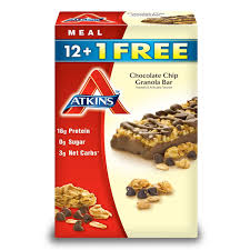 Amazon Com Quaker Chewy Granola Bars Variety Pack 58 Count by Atkins Chocolate Chip Granola Bar 13 Ct 2 Pack Amazon Com