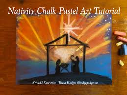 in this nativity chalk pastel art lesson we will focus on the