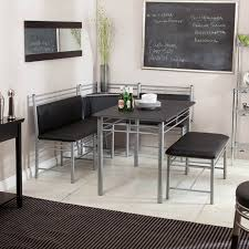 cool modern dining room with bench style comes with silver metal