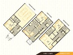floorplans avenues on 61st 4 bedroom townhomes in savannah