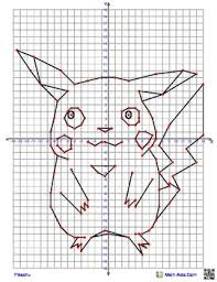 pikachu from pokemon coordinate graphing picture4 quadrant