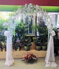wedding arch rentals white metal arch jpg