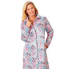 peignoir de chambre robe de chambre matelassée bleu bonheur