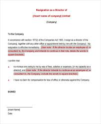 corporate resignation letter templates 6 free word pdf format