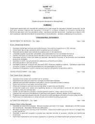 Sample Resume Objectives For Production Operator by Resume Sample Of Warehouse Resume