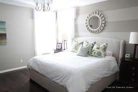 bedroom design bedroom striped bedroom wall combined grey bed