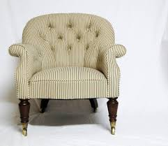 Victorian Upholstered Chair Early Victorian Upholstered Tub Chair With Mahogany Legs U0026 Castors