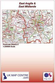 map of east uk postcode district map 5 east midlands east anglia