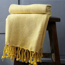 jeté de canapé jeté de canapé en coton jaune produit artisanal par pankaj e boutique