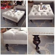 Grey Tufted Ottoman Ottoman Coffee Tables Ottomans Coffee And Living Rooms