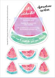 printable party invitations free printable watermelon party invites free printable party
