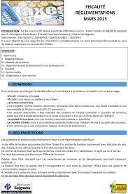 fiscalité chambre d hote fiscalité réglementations mars pdf