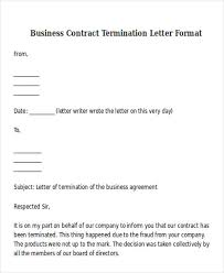 simple business agreement termination letter sample for your