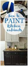 How To Repaint Kitchen Cabinets White How To Paint Kitchen Cabinets At Home With The Barkers