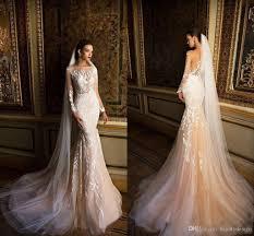 wedding dress makers milla 2018 wedding dresses mermaid illusion bateau neck