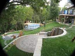 steep hillside house plans backyard u0026 patio marvelous backyard theater systems with