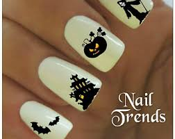 halloween nail decal etsy