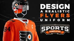 hockey templates for photoshop how to design the hockey uniform of nhl philadelphia flyers