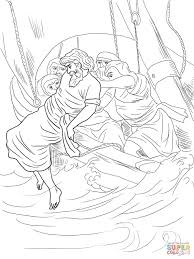 jonah thrown overboard coloring page free printable coloring pages